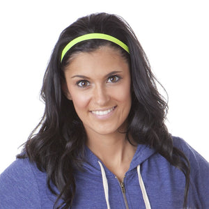 Hipsy Adjustable Non Slip Neon Snakeskin Yellow Skinny Headband