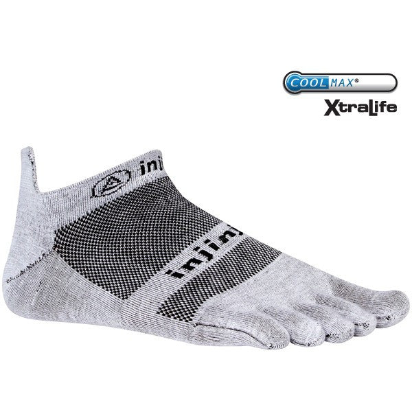 Injinji Run Lightweight No-Show (Gray) Toe Socks
