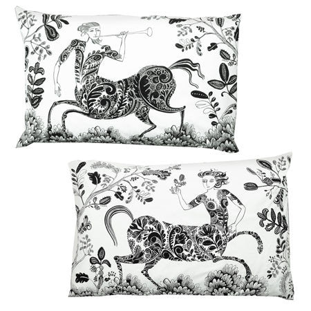 Centaur Pillowcases - Black