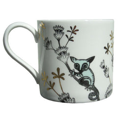 Lush Designs Bushbaby print on the reverse of monkey mug