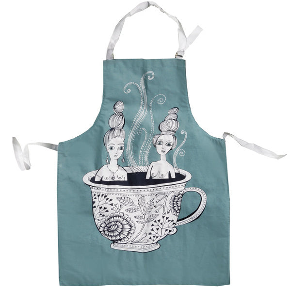 Tea Cup Ladies Apron