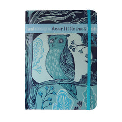 Owl print hard-backed notebook