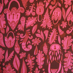 Lovelocks Fabric - Pink