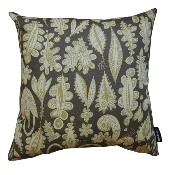 Lush Designs lovelocks design cushion in shades of green