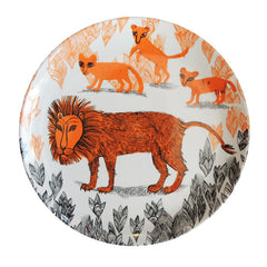 Lion and cubs plate in melamine