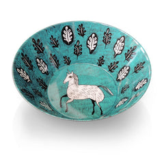 Lush designs unicorn design bowl in turquoise