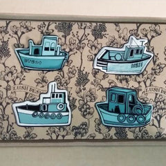 Set of Fridge Magnets: Boats