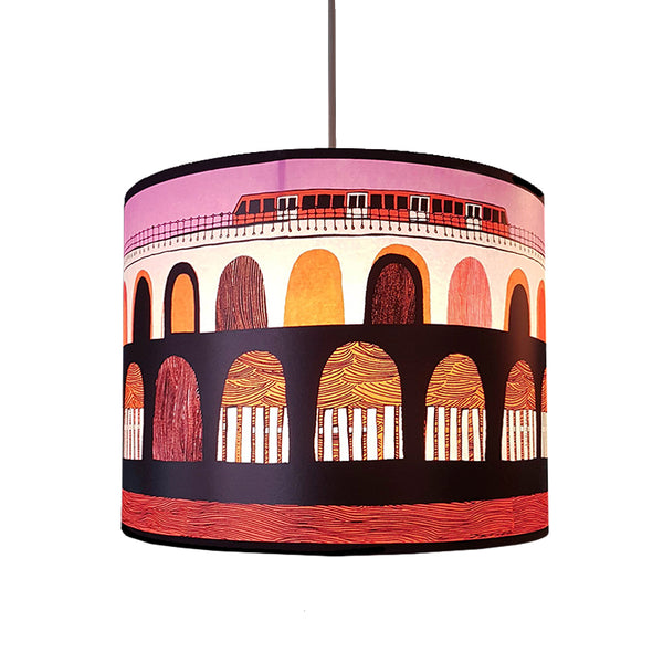 DLR Lampshade - Orange/Pink