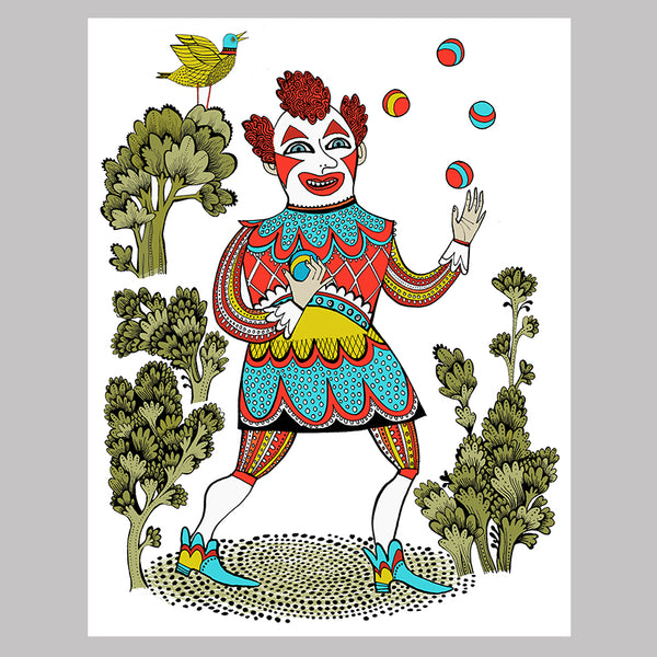 FREE Downloadable colouring page Clown