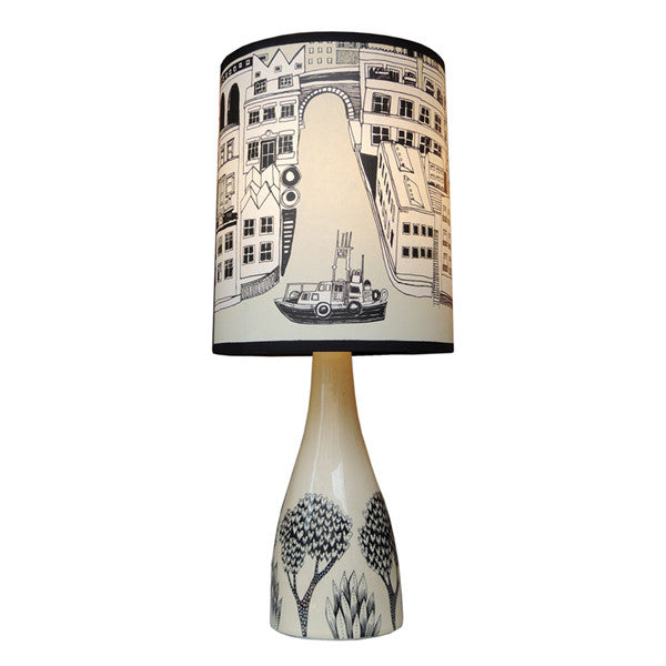 Linden Lamp base - Cream/Black