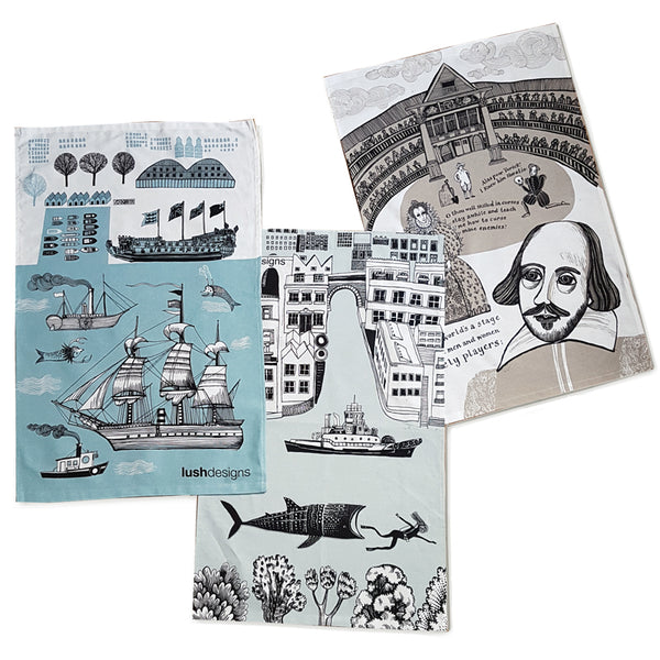 Set of three tea towels