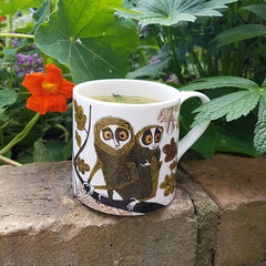 Mug printed with Loris with baby in the jungle