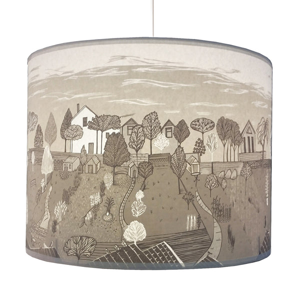 Back Gardens Lampshade Pale Grey