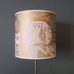 Owl Lampshade - Gold