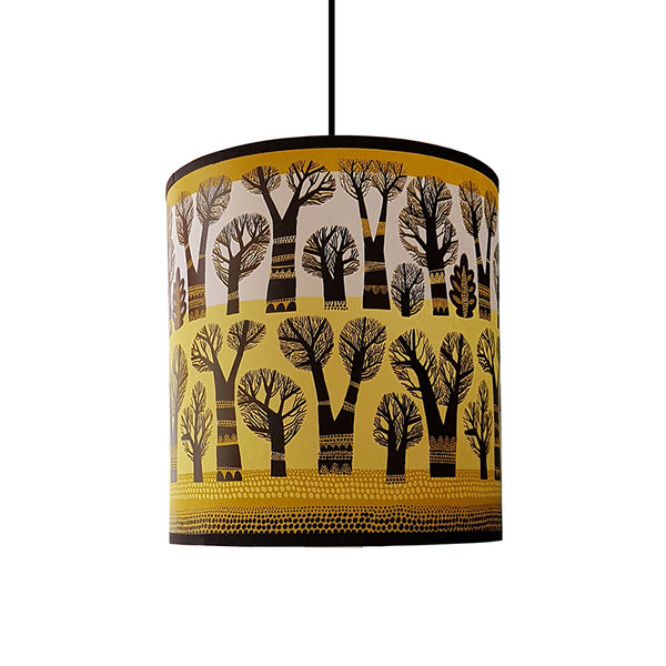 Winter Trees lampshade (Mustard)