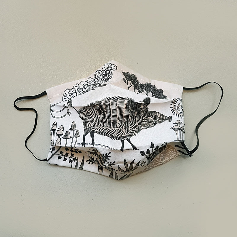 Lush Designs face covering printed with wild boar design