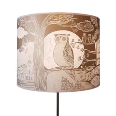 Gold owl lampshade