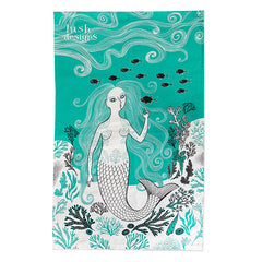 Lush Designs Mermaid print tea towel