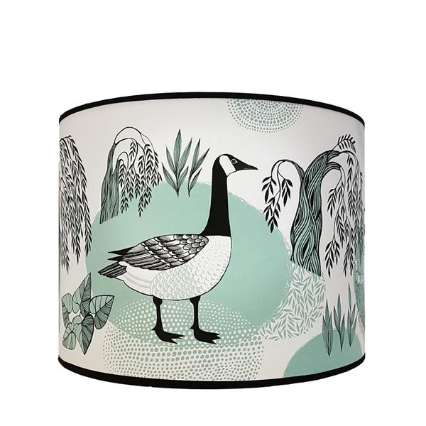 Lampshades lush designs goose lampshade eau de nil greentooth Image collections