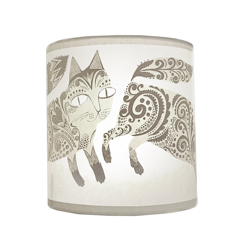 Kitty Lampshade - Pale Grey