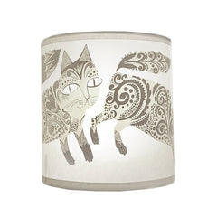 Lush Designs small kitten print shade in pale grey