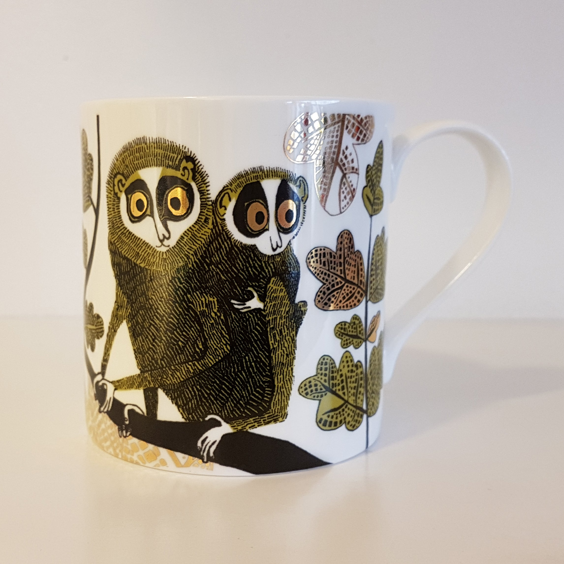 Lush Designs China mug with design of Loris and baby