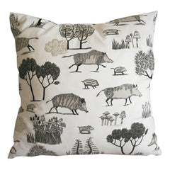 Many wild boar cushion