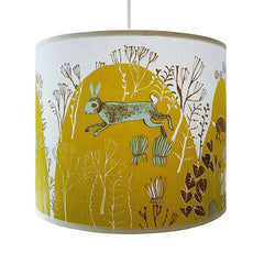 Rabbit lamp shade Chartreuse