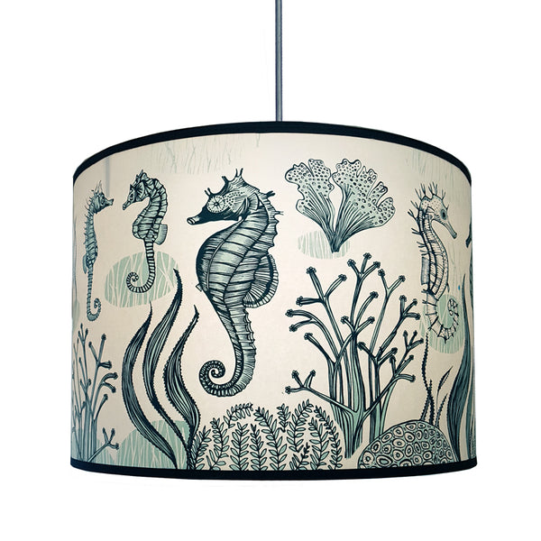 Seahorse Lampshade - Blue