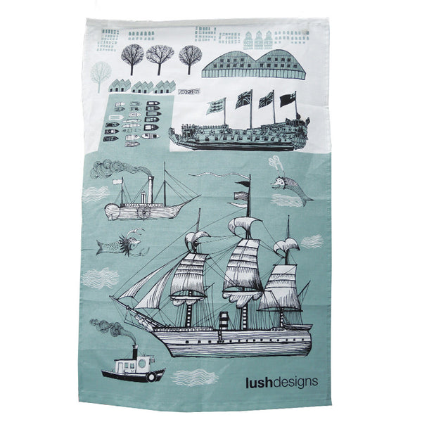 Ship Tea Towel