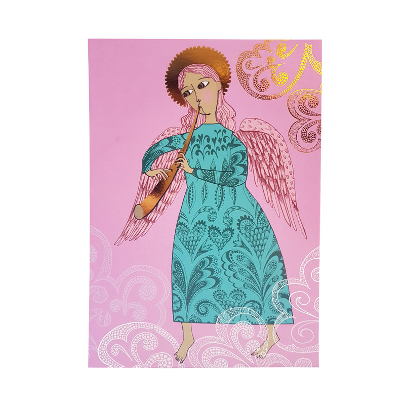 Copy of Greetings card Woodwind Angel