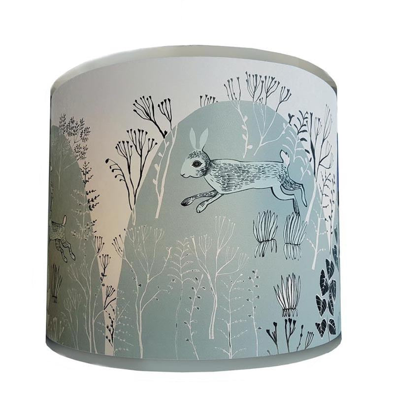 Rabbit lampshade soft blue