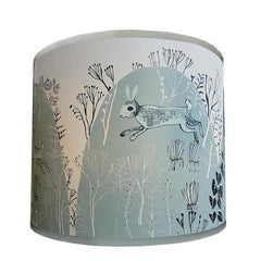 Rabbit lamp shade teal-grey