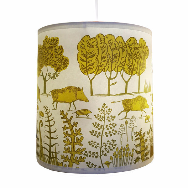 Wild boar Lampshade - Green