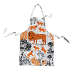Lush Designs Cotton Drill childrens' apron with Lion and cubs design