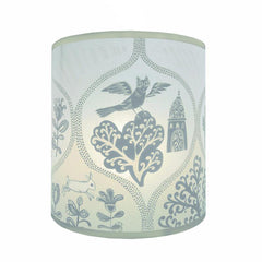 Cottages & Castles Lampshade - Cream/Pale Grey