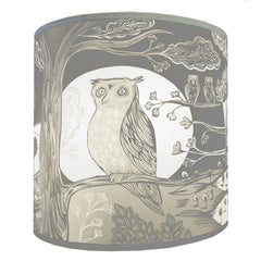 Lush Designs Grey and Cream Owl print lamp shade