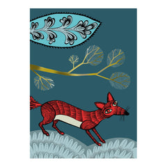 Lush Designs Fox greetings card