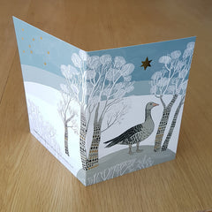 Lush Designs goose print christmas card