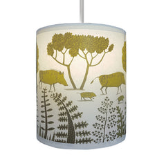 Lush Designs Wild Boar shade in smaller size in shades of chartreuse lime and olive green
