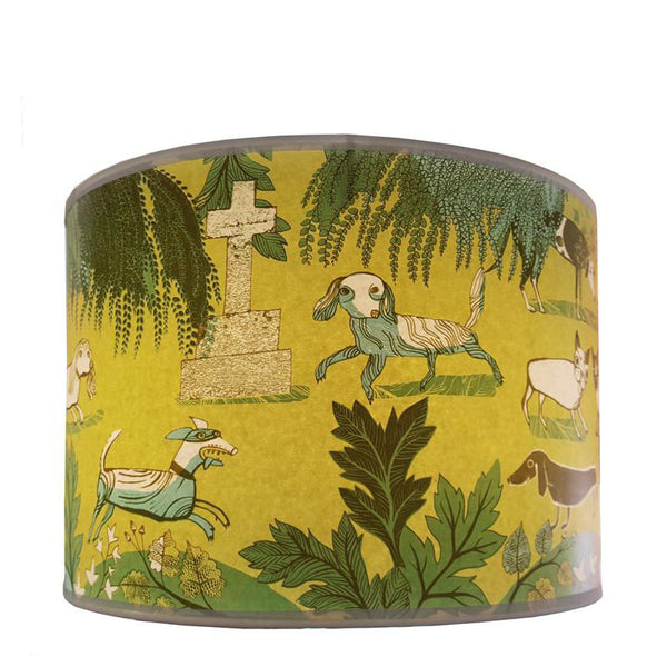 Dog lampshade Green