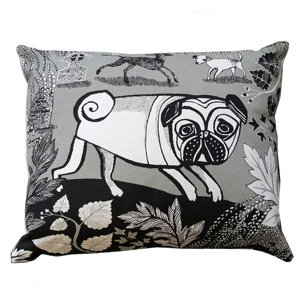 Grey Doggie cushion