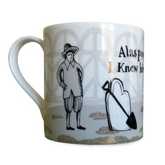 Lush designs Hamlet mug back view of Horatio and grave