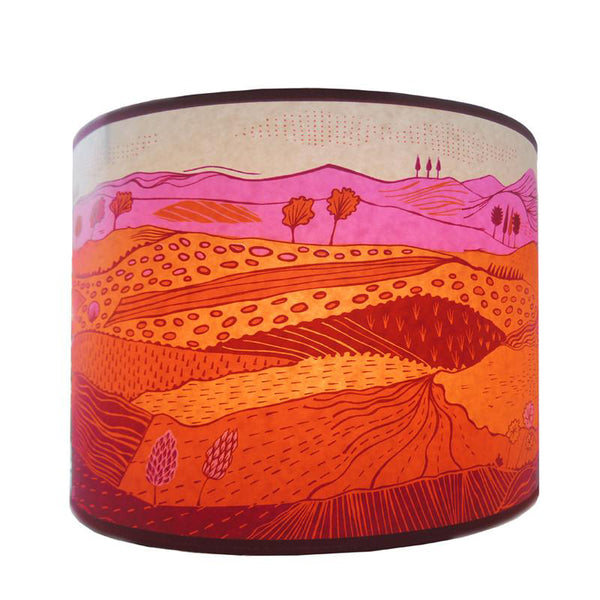 Landscape Lampshade - Pink