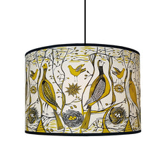 Lush Designs mustard and black bird print shade