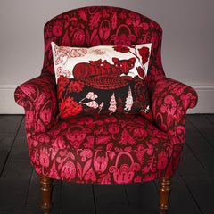 Lush Designs Fox cushion on armchair