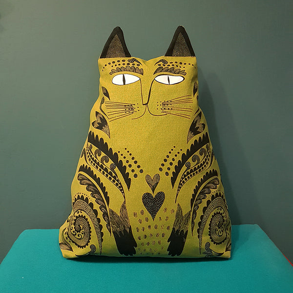 Kitty Cushion (chartreuse)