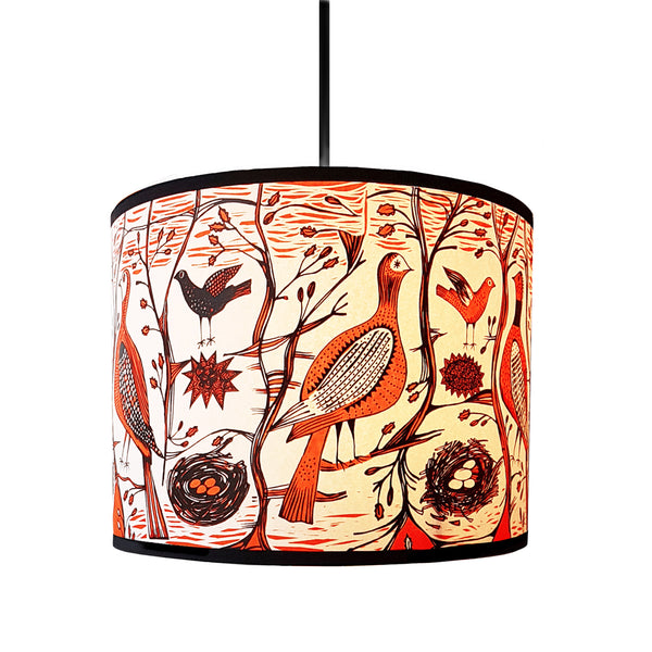 Game Bird Lampshade Orange