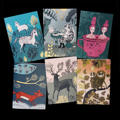 SET OF CARDS Puss and Friends