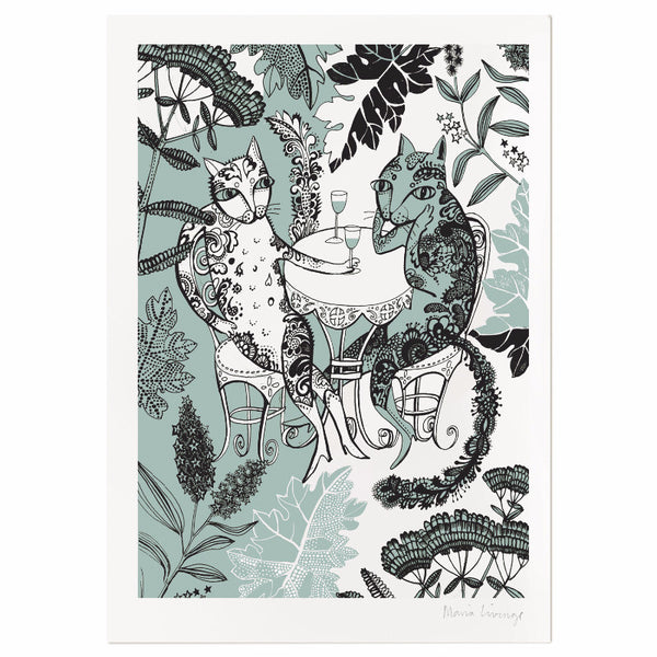 Cats in the Garden Print